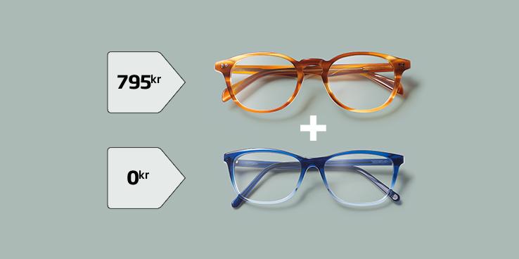 2for1 briller fra 795 kr.