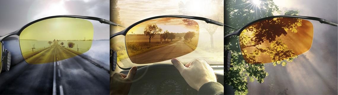 Synet på bilveien gjennom flere årstider