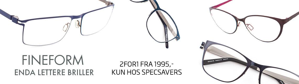 Lette og elegante briller i Fineform-kolleksjonen